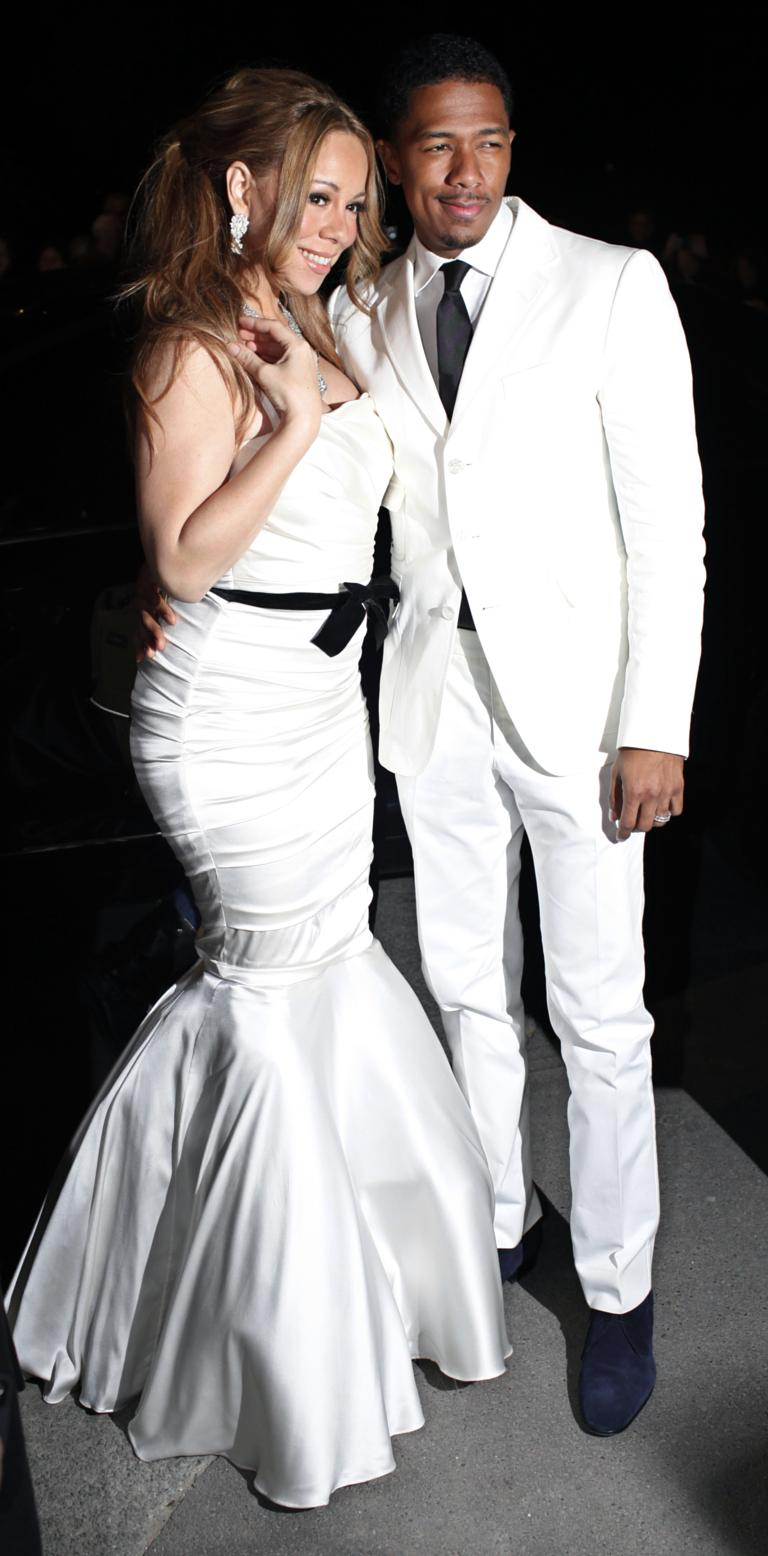 Mariah Carey Nick Cannon Pose After Renewing Their Vows