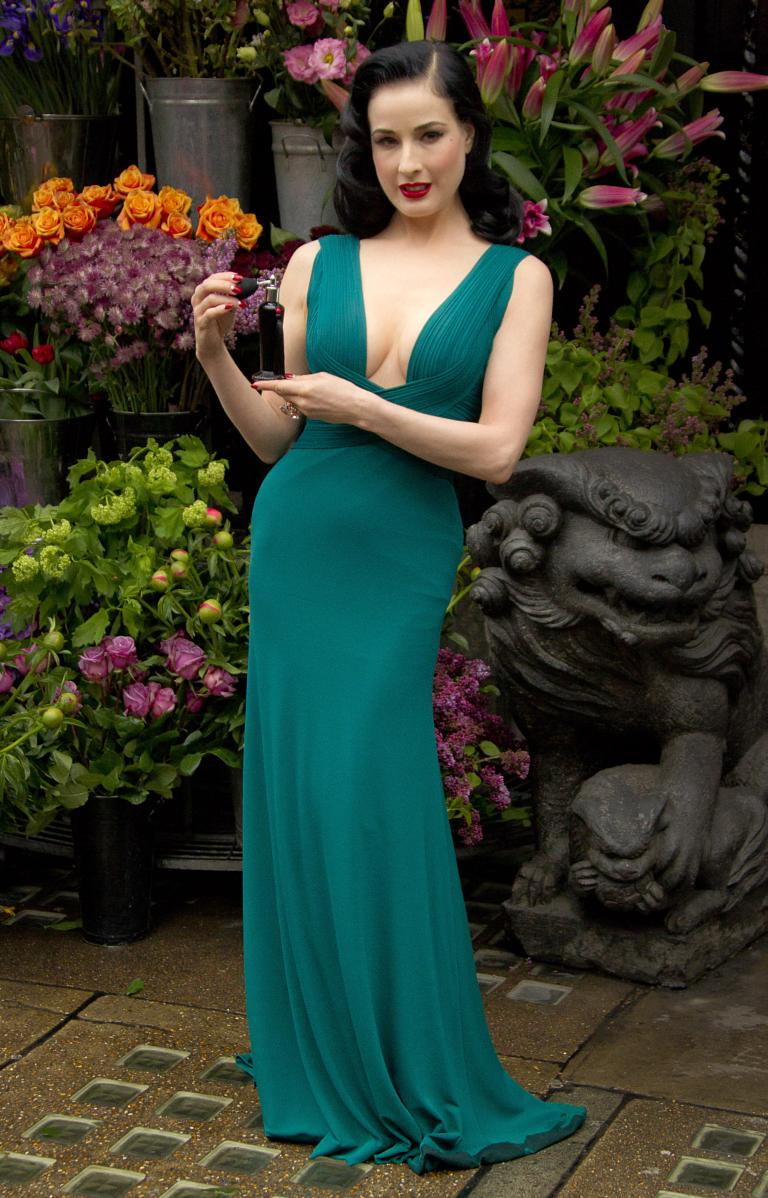 Dita Von Teese launches debut perfume in London - pictures