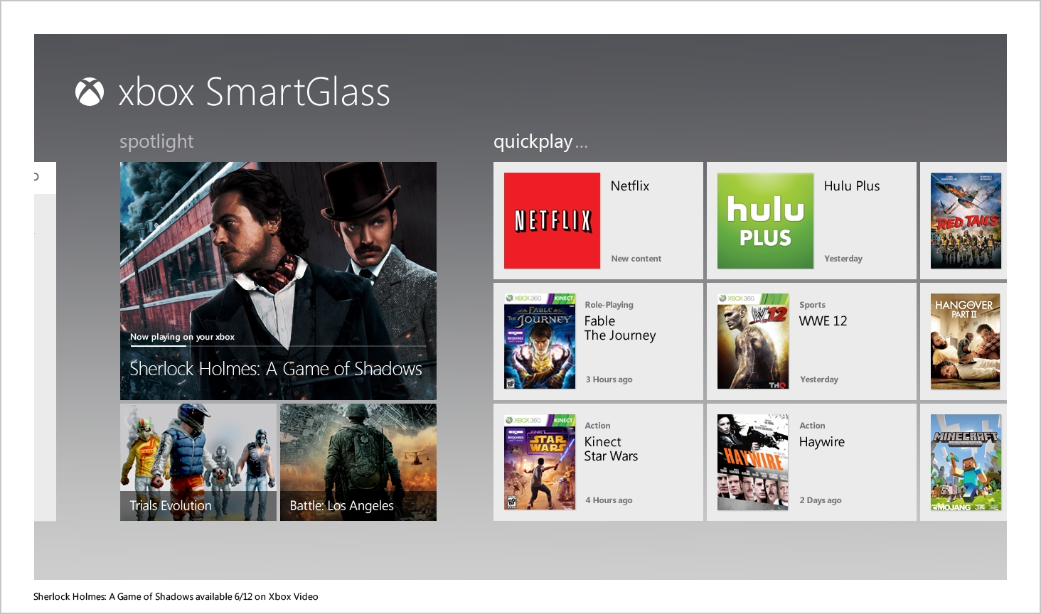 SmartGlass compatible games, apps list