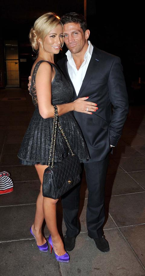 Chantelle Houghon And Alex Reid Arrive At The Rte Studios For Saay Night Show Dublin