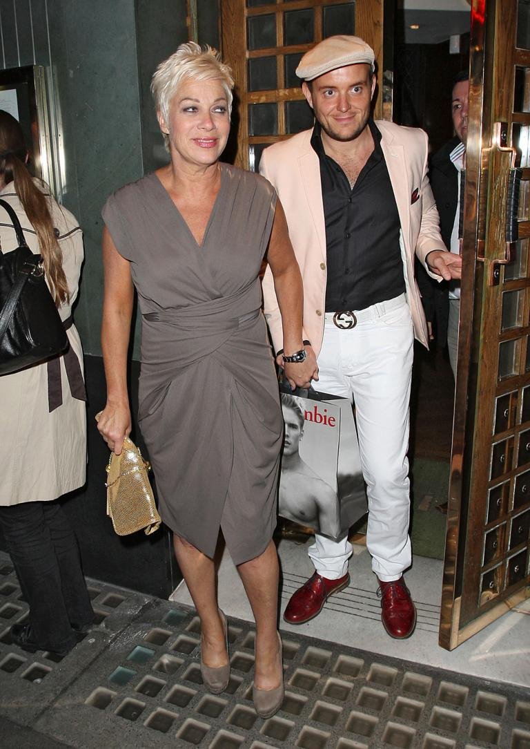 Denise Welch And Boyfriend Lincoln Townley Leaving The Ivy Restaurant London