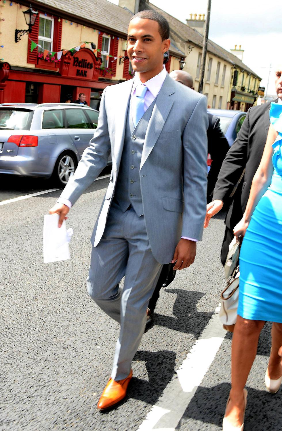 Marvin Humes Arrives For The Nuptials