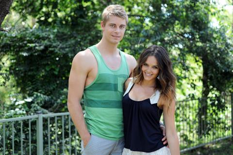 Luke Mitchell And Rebecca Breeds As Romeo Smith Ruby Buckton In Home Away