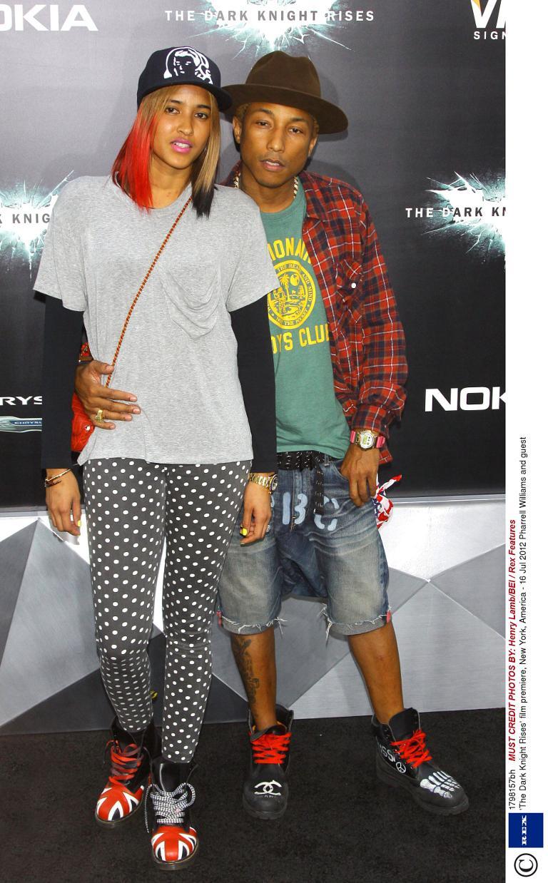 Pharrell Williams Helen Ladichanh At 39 The Dark Knight Rises