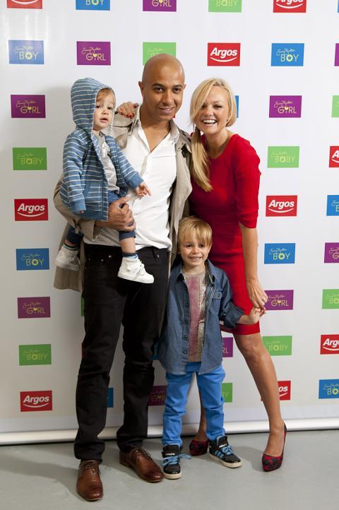 Emma Bunton And Jade Jones With Children Tate Left Beau Right