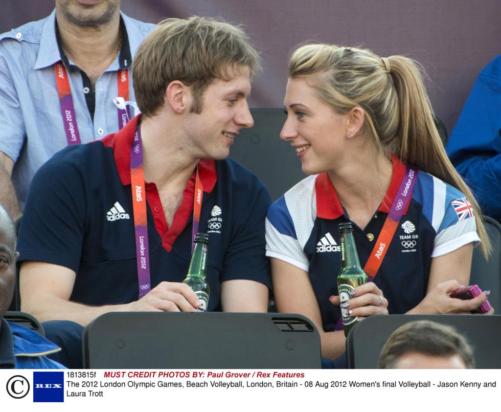 Showbiz London 2017 Laura Trott And Jason Kenny Beckham At Beach Volleyball