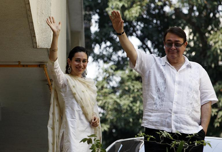 Randhir Kapoor Right And Karisma Father Sister Respectively Of Kareena
