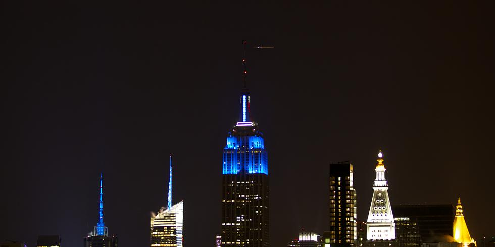 Captivating Empire State Building Lit Up In Blue To Mark President Obamau0026#39;s Re