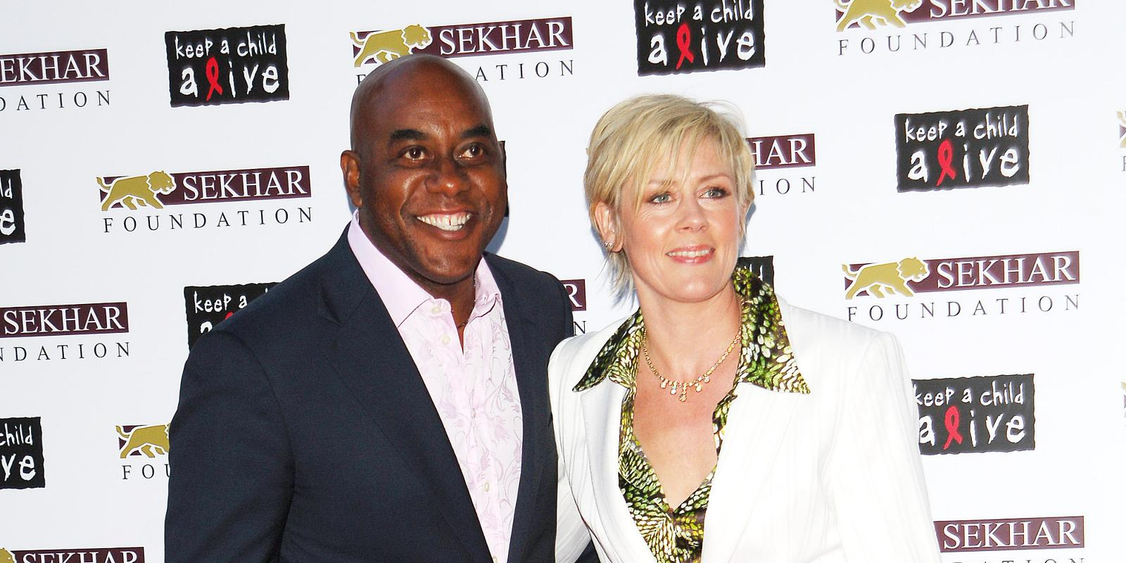 Ainsley Harriott with his ex-wife Clare Fellows
