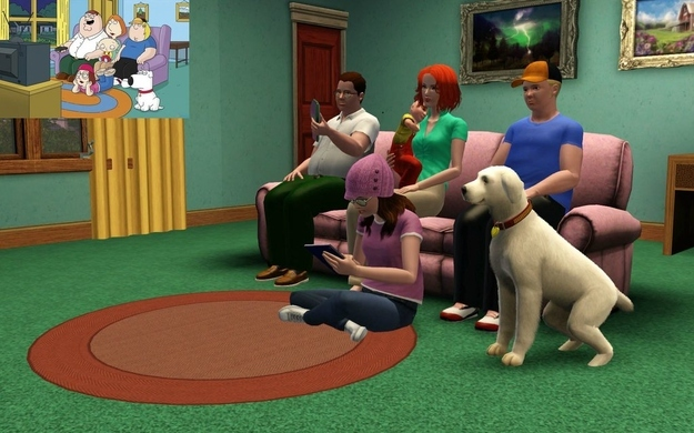 odd: family guy recreated on sims 3