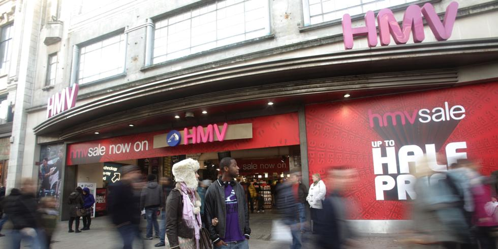 Hmv goes into administration music stars respond to death of store hmv store on oxford street gumiabroncs Image collections