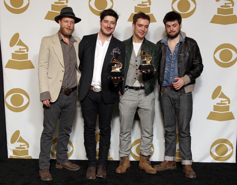 Mumford sons to win three brit awards spotify predicts ted dwane marcus mumford ben lovett and winston marshall of the band mumford m4hsunfo