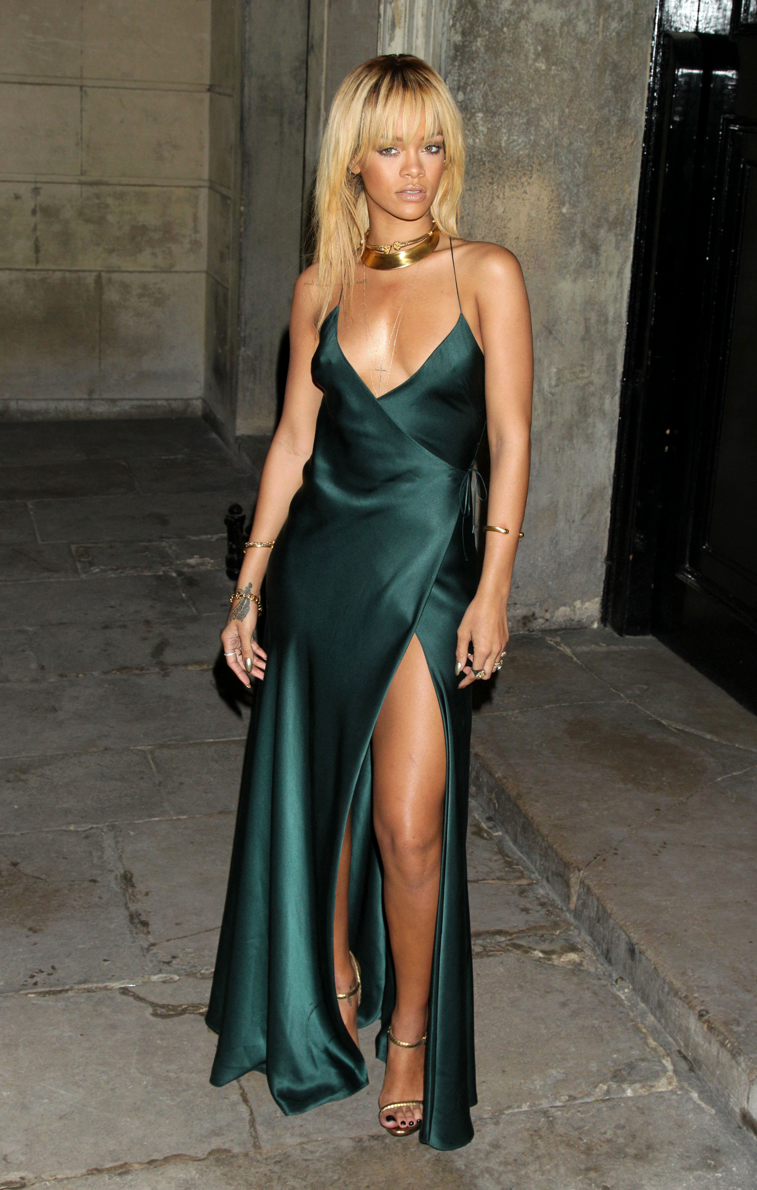 Rihannau0026#39;s 20 best and worst outfits Leather nude sheer dresses