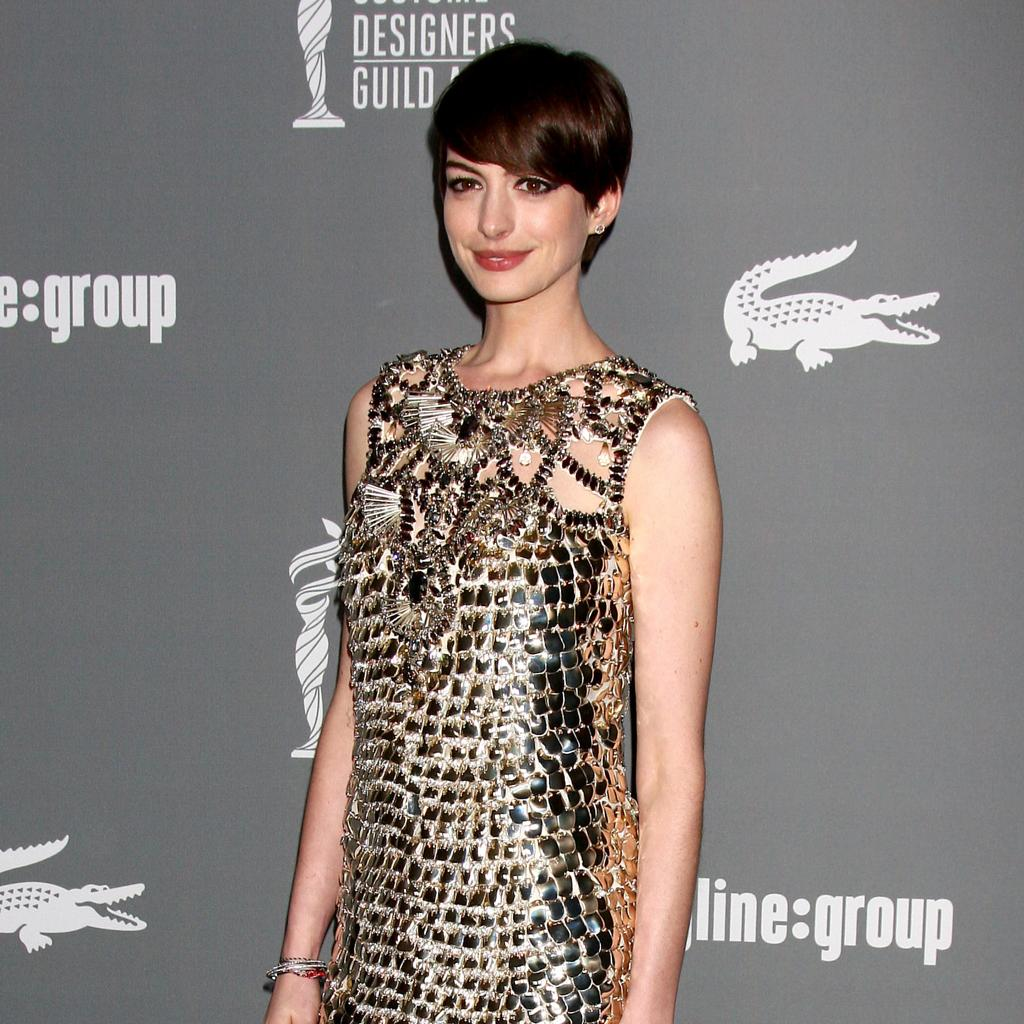 Showbiz: Anne Hathaway At The Designers Guild Awards