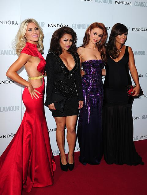 Mollie King, Vanessa White, Una Healy and Frankie Sandford of The Saturdays at the