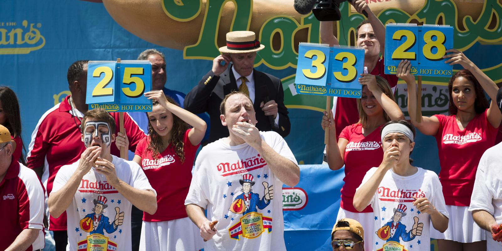 Hot Dog Eating Contest Record Youtube