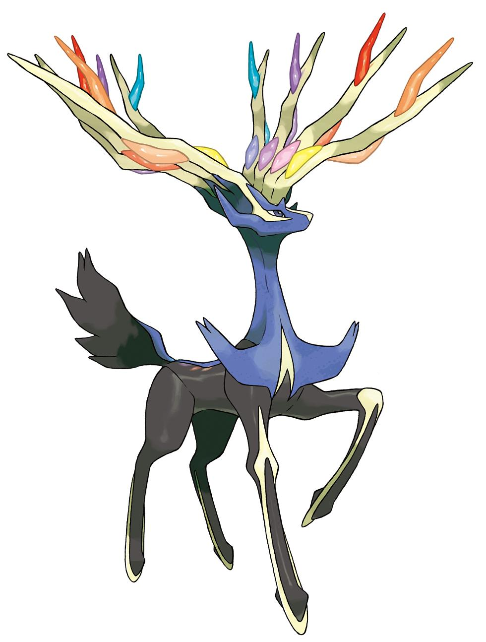 Pokemon coloring pages xerneas - Gaming Pokemon X And Y