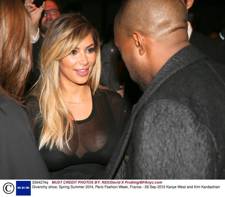 Kim Kardashian And Kanye West Givenchy Show Spring Summer 2014 Paris Fashion Week