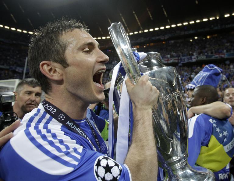 Frank Lampard With The UEFA Champions League Trophy May 2012