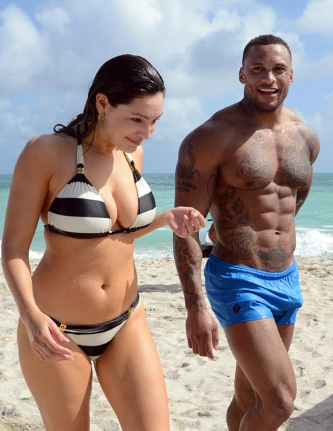 David McIntosh Hits Miami Beach In Tight Trunks Like A Tornado