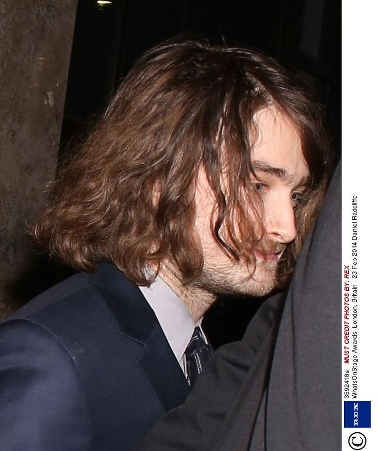 Daniel radcliffe collects theatre award in long hair extensions whatsonstage awards london britain 23 feb 2014 daniel radcliffe 23 feb 2014 pmusecretfo Choice Image