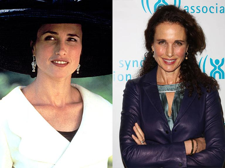 The Cast Of Four Weddings And A Funeral Then Now Andie MacDowell