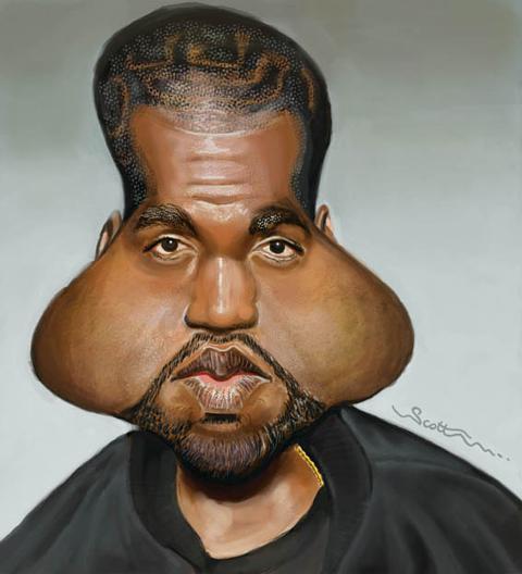 Kanye west funny face