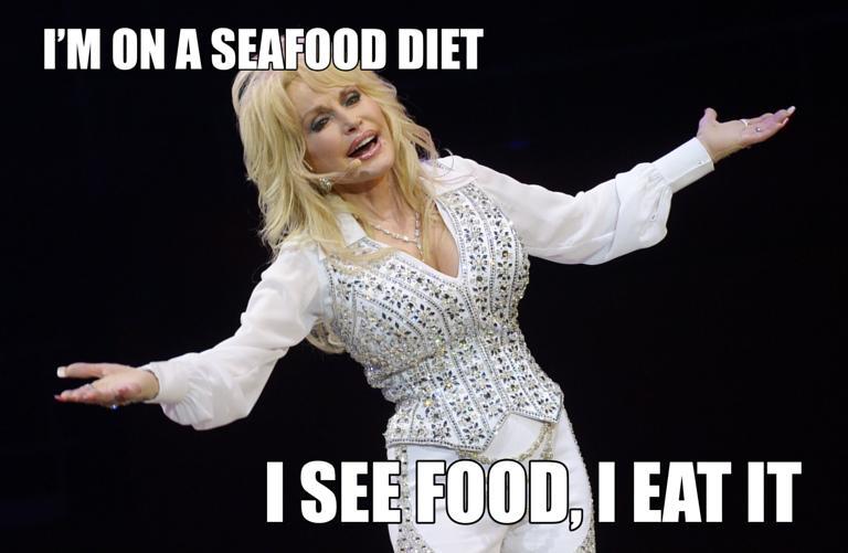 Dolly Parton Seafood Meme