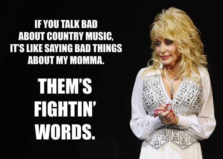 Dolly Parton Fightin Words Meme