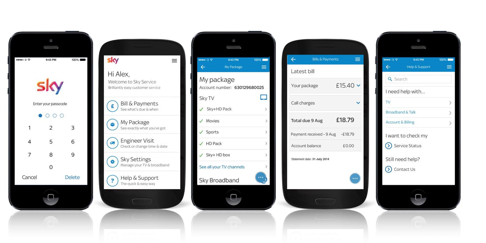 Phone Sky App For Android Phone sky service app lets users manage account on the move