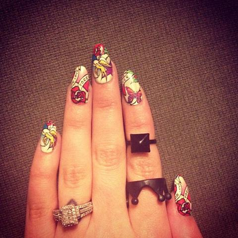 Whod wear a ring like this Guess the engagement ring selfie stars