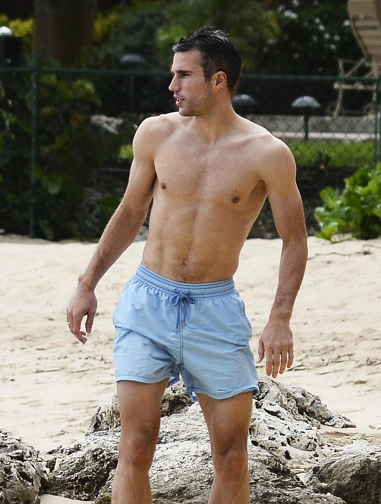 Gay spy world cup losers steven gerrard robin van persie have robin van persie and family are spotted on the beach in barbados voltagebd Images