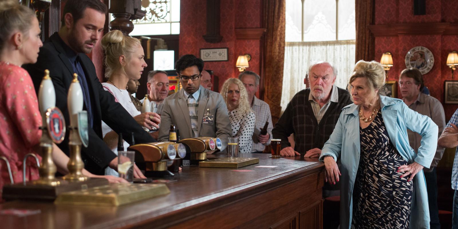 pub cora noel 2018 EastEnders: Mick Carter's arrest shame to be exposed by Cora Cross pub cora noel 2018