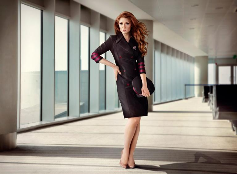 Nicola Roberts becomes air hostess to promote first airport Nando\'s