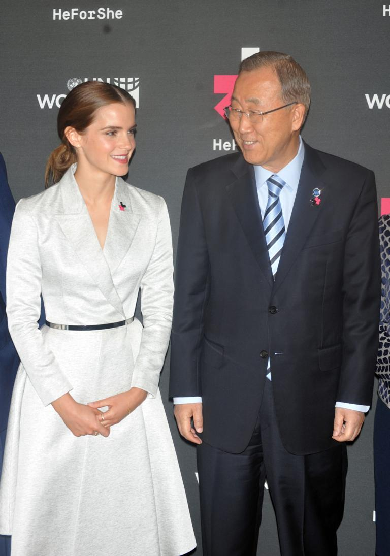 beach-spy-eye.com nudist junior Emma Watson and Ban Ki-Moon attend the launch of the HeForShe Campaign at the