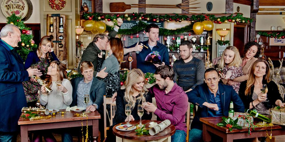 emmerdale releases christmas promo picture and story teasers - A Country Christmas Cast