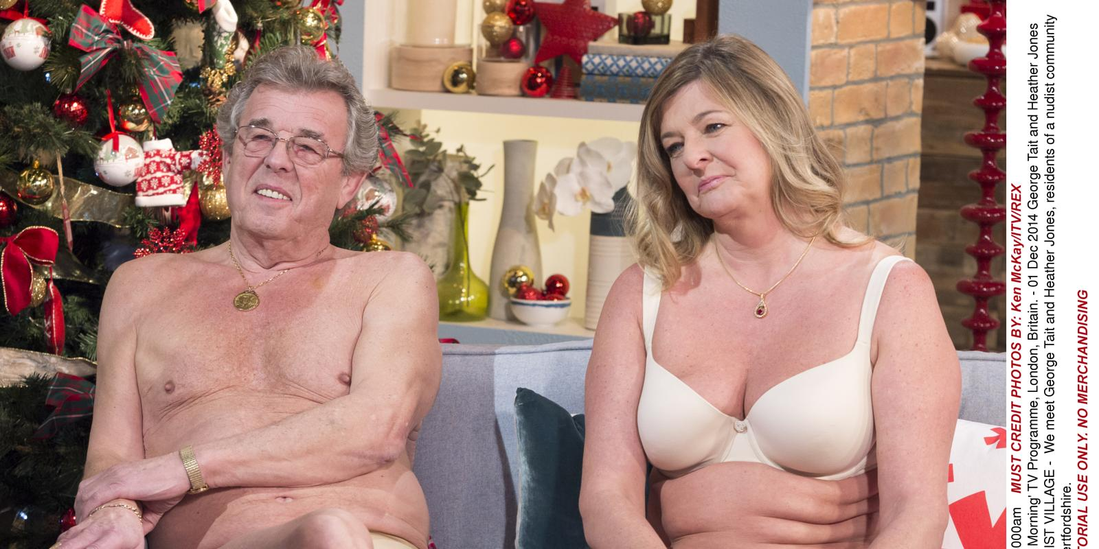 Amanda Holden attempts to keep straight face with nudists on TV