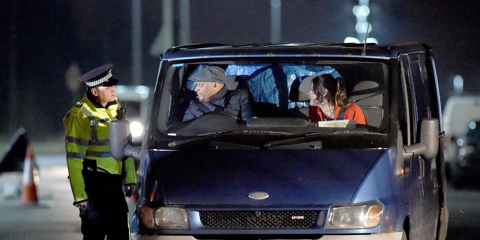 Barlow In A Stranger S Car