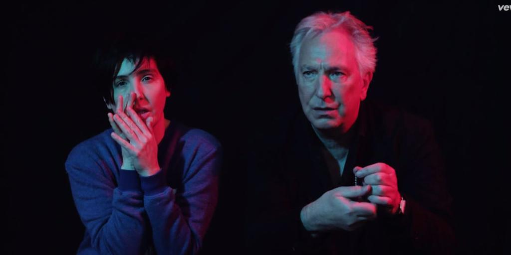 Alan Rickman in the music video for Start a Family.