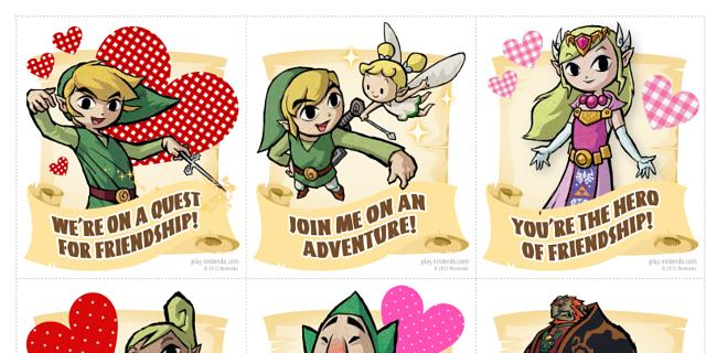 U0027Youu0027re My Power Upu0027: Nintendo Launch Gaming Valentineu0027s Day Cards