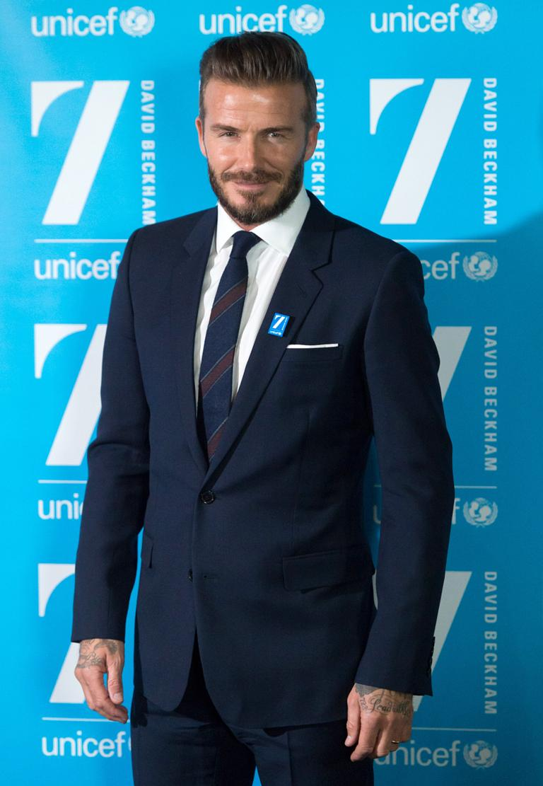 David Beckham celebrates 10 years with UNICEF and launches new 7 ...