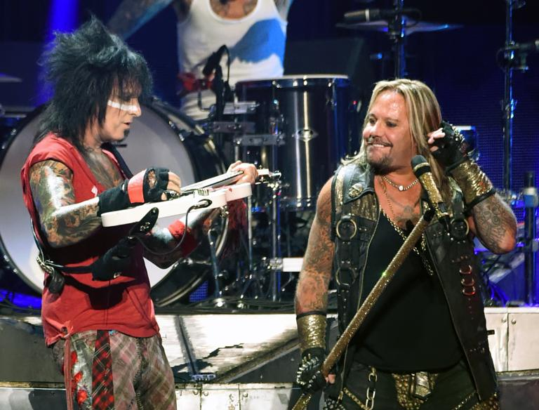 Motley crue announce four uk dates as part of final ever tour mtley cre39s vince neil and nikki sixx iheartradio festival 2014 m4hsunfo