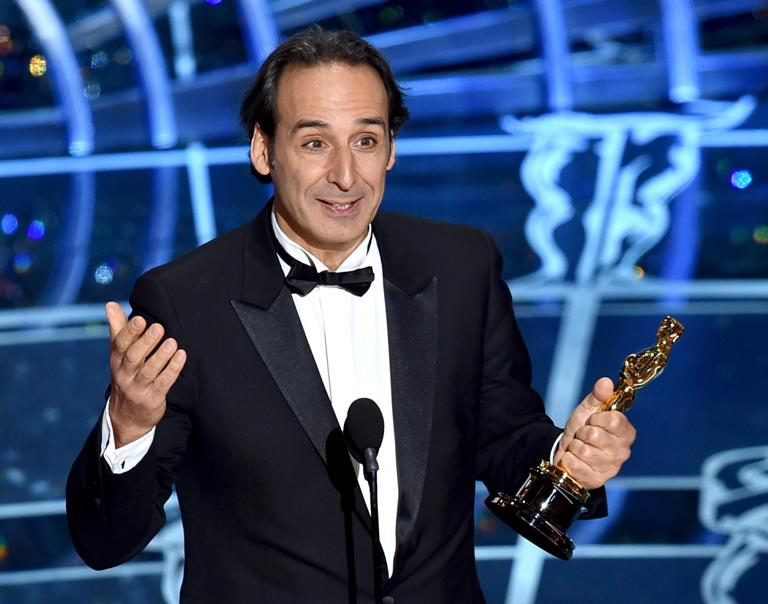 Oscars 2015: Alexandre Desplat accepts the Best Achievement in Music Written for Motion Pictures, Original Score for The Grand Budapest Hotel