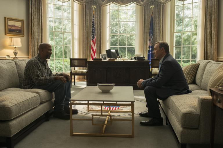 Reg E. Cathey U0026 Kevin Spacey In House Of Cards S03E08