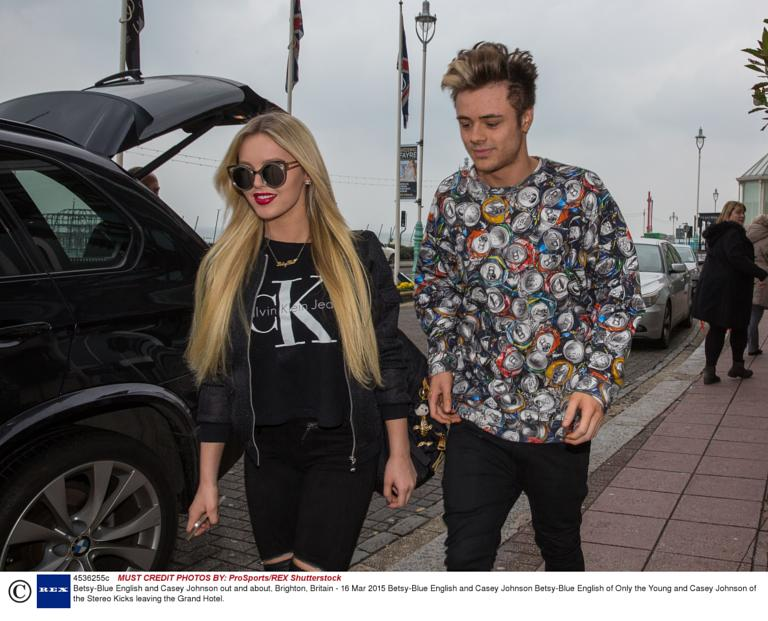 Betsy-Blue English and Casey Johnson out and about, Brighton, Britain - 16