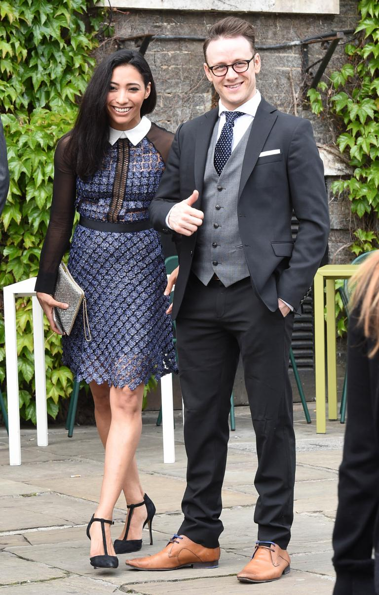 Karen Hauer And Kevin Clifton Arriving At St Mary 39 S Church
