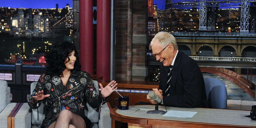 Of David Lettermans Most Shocking Interviews From Cher And - Underwear on a us map colbert show