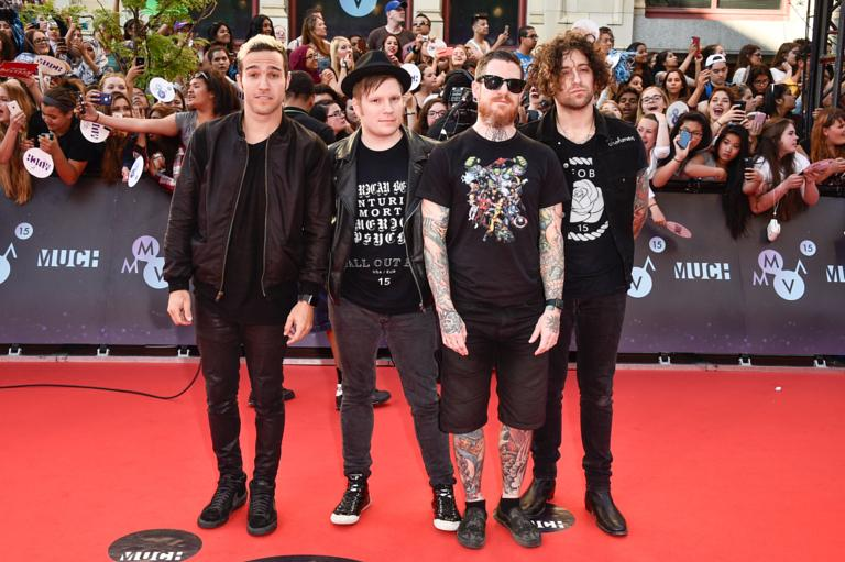 Fall out boy asked for uma thurmans permission to name their song fall out boy arrive at the 2015 much music video awards sciox Choice Image