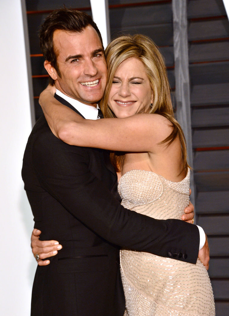 Justin Theroux Left And Jennifer Aniston Arrive At The 2017 Vanity Fair Oscar Party