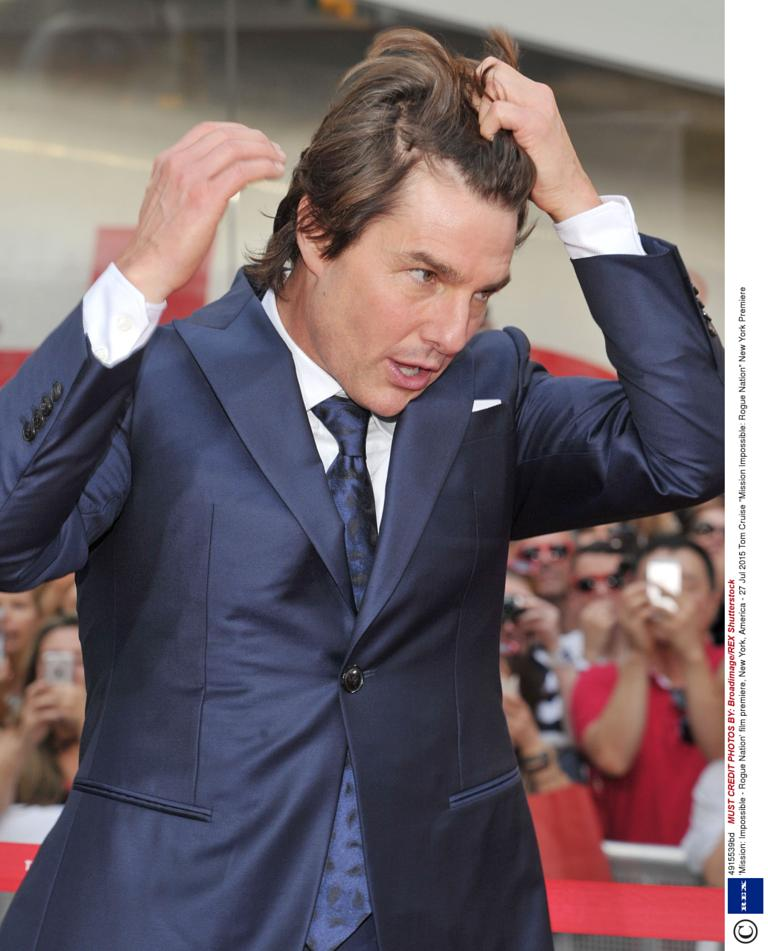 Tom cruise faces his toughest mission impossible yet the wind tom cruise at the mission impossible rogue nation premiere urmus Images
